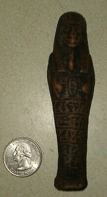 NR Egyptian Ancient Faience Ushabti BC From Egypt w Glyphs Lot-58