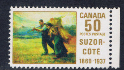 "Canada #492(1) 1969 50 cent ""HARVEST"" by SUZOR COTE MNH SCV$5.00"