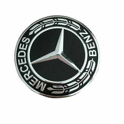 57MM Metal Flat Hood Emblem Front Badge Logo For Mercedes Benz C E SL Class