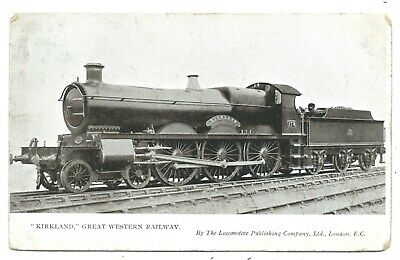 "GREAT WESTERN RAILWAY - GWR Steam Loco no.178 ""KIRKLAND"" Postcard"