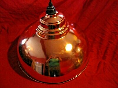 Large Vintage Dome Shaped Copper (Hammer Copper Inside) Ceiling Shade,With Rose