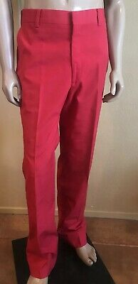 Vintage 611 Saks Fifth Avenue Red  Front Zipper Fly Pants Mens