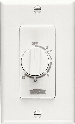 Broan 61W 15 Minute Timer Switch - White - White
