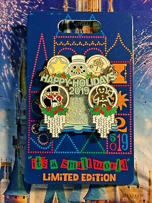 it's a small world HAPPY HOLIDAYS 2019 Pin Disney Disneyland LE3000