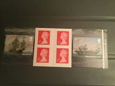 Gb 2019 Royal Navy Stamp Booklet Cyl W1