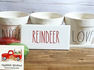 Reindeer Christmas Sign - Tiered Tray - Rae Dunn Inspired - Farmhouse Sign