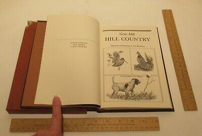 HILL COUNTRY - Gene Hill - SIGNED hardback BOOK w/slipcase - damaged