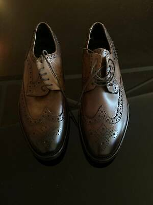 mens shoes EU 44 elegant blue leather BZ456-B 2 MADE IN ITALY 10