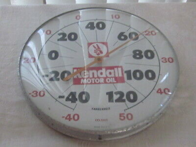 Vintage Kendall Oil Thermometer Sign RARE WITH 2 FINGERS NICE!