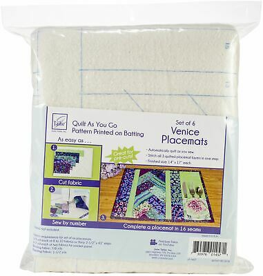 June Tailor Quilt As You Go Placemat 6/Pkg-Venice -JT1457