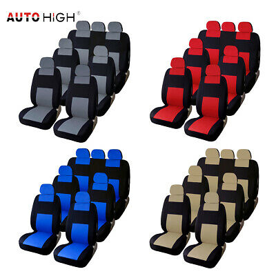 3 Row 7 Seat Universal Car Full Set Seat Covers Interior Accessories for SUV Van