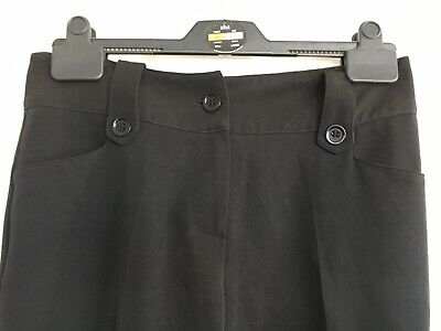 Girls Trousers Size Age 12 Years Black School Uniform Tailored Bhs Black