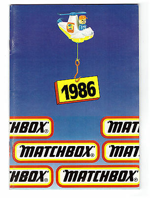 GSKAT KATALOG / CATALOGUE MATCHBOX 1986, Deutsch, GS, sehr gut/lvery good !
