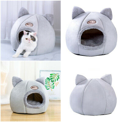 Pet Dog Cat Tent House Kennel Winter Warm Nest Soft Foldable Sleeping Pad Cave