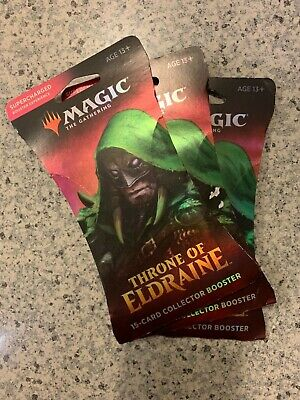 MTG Throne of Eldraine 15 Card Collector Supercharged Booster Packs x(3) sealed
