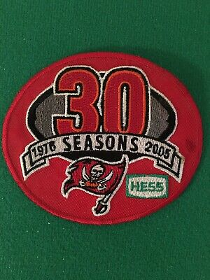 2005 Tampa Bay Buccaneers Nfl Football 30Th Year Anniversary Official Patch Hess