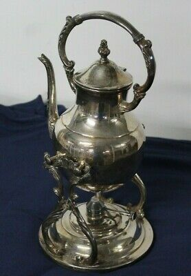 FB ROGERS Silver Co Tilt & Stand Coffee Pot or Teapot & Warmer Silverplated