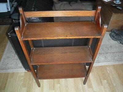Small Vintage Oak Bookcase. Excellent Condition. Collection From Cheltenham