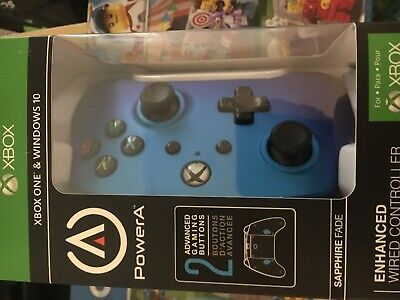 PowerA Enhanced Wired Controller for Xbox One - Sapphire Fade. Brand new sealed