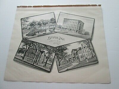 1892 New Hampshire Antique Map, Memorial Page, Hon.  Nathaniel White, Concord Nh