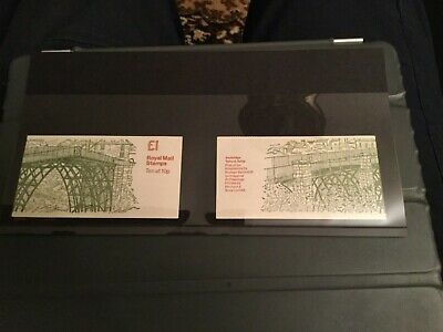 GB £1 BOOKLET 1978 Ironbridge FH1 A and B