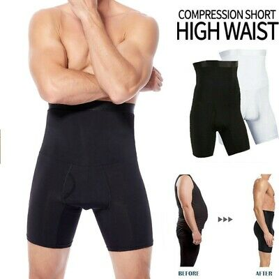 Men's Compression High Waist Boxer Shorts Tummy Control Body Shaper Girdle Pants