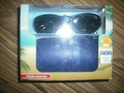 Kids Sunglasses & Robust Case New Boxed 100% Uv Protection Strong & Scratchproof