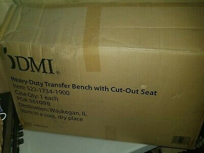 DMI Heavy-Duty Transfer Bench with Cut-Out Seat