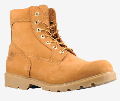 Men's Timberland Boots 6-Inch Single Sole Wheat Nubuck Leather Waterproof Us 12
