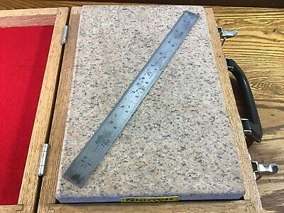 "Starrett 12"" Shrink Rule / Scale No. 369 Tempered Tool - Patternmaker Woodwork"