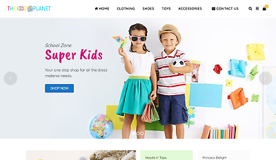 Online Kids Clothing and Toy Ecommerce Business For Sale