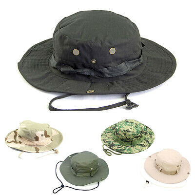Military Boonie Hat Outdoor Sun Protection Wide Brim Bucket Cap Foldable Hiking