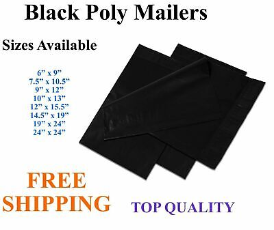 5-3000 Black Poly Mailers Shipping Envelopes Self Sealing Plastic Mailing Bags