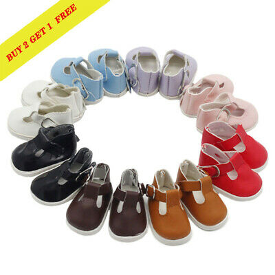 5.5*2.8cm PU Leather Shoes For 14.5inch Girl Doll Mini Toy Shoes Doll Accessory*