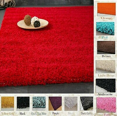 Non Slip Shaggy Area Rug Living Room Bedroom Carpet Large & Small All Size Mat