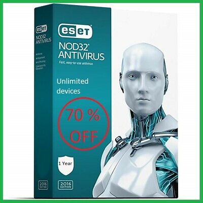 2020 ESET NOD32 Antivirus 2020 Unlimited Devices 1 years - Instant Delivery