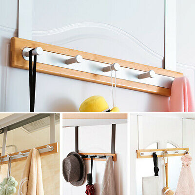 Coat Rear Traceless Home Organizer Storage Nail Free Door Hook Rack Heavy Duty