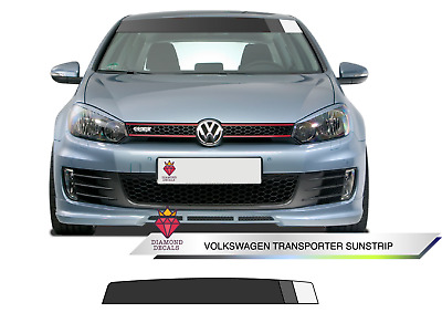 VW Gold TSI TGI GTI  Sunstrip Decal Sun Screen Sticker Choice of Colour