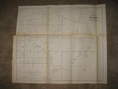 Early Important Antique 1856 Wisconsin Minnesota Territory Map Native Indian Nr
