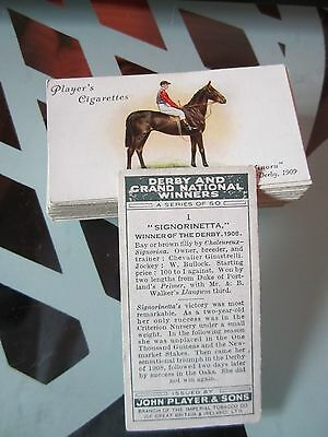 """PLAYERS  """" DERBY AND GRAND NATIONAL WINNERS 1933 """" FULL SET [s]"""