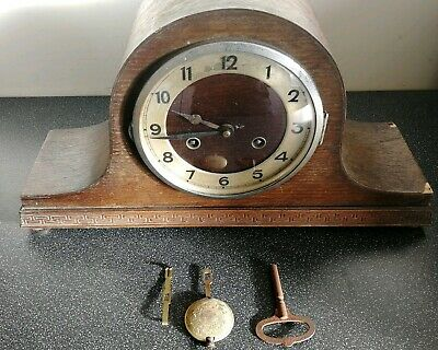 Vintage Fhs Franz Hermle German Mantel Clock - In Need Of Restoration