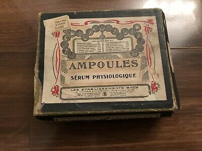 Antique Victorian Era French Quack Medicine Small Box Advertising