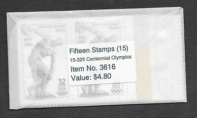 US MAKESHIFT VENDING ENVELOPE, w/15 SCOTT #3087 OLYMPICS, MNH, UNOPENED (E36)