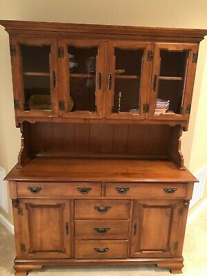 Vintage Wood Dining Room Hutch Furniture Tell City Young Republican