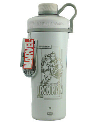 Marvel Blender Bottle Invincible Iron Man Radian White Marvel Stainless Steel