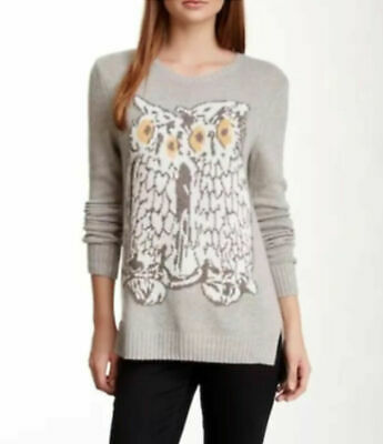 RONDINA Etcetera Cream Orange Intarsia Lace Up Back Sweater