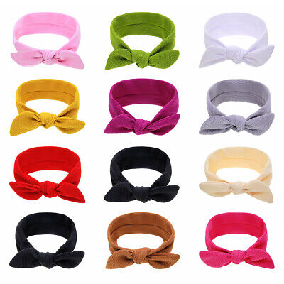 Ears Newborn Hair Bands Baby Girl Headbands Soft Headwrap Infant Knotted Turban