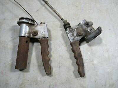 Vintage 1950's Lambretta Scooter 150 D Handlebar Controls Grips Levers OEM Italy