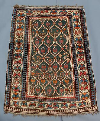 Antique Hand Woven Wool, Middle Eastern Caucasian Rug Carpet, NO RESERVE