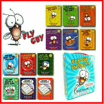 Fly Guy Phonics Childrens Books Box Set Lot 12 Arnold Tedd Book Learning Readers